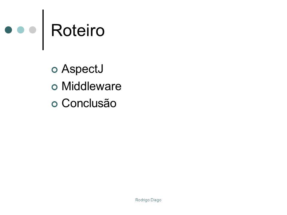 Rodrigo Diego Roteiro AspectJ Middleware Conclusão