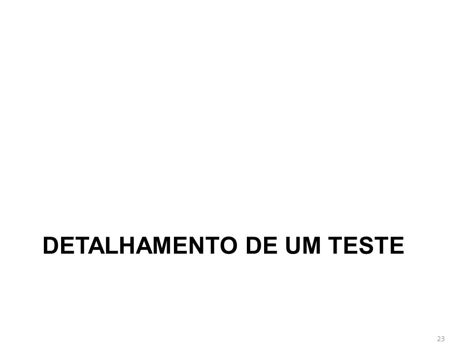DETALHAMENTO DE UM TESTE 23