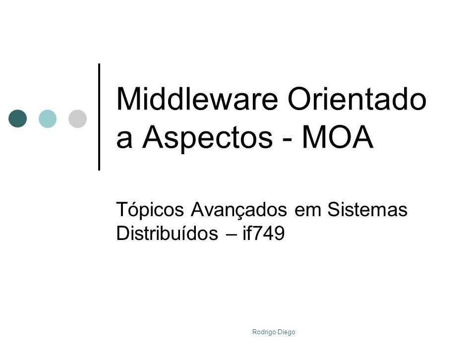 Rodrigo Diego Middleware Orientado a Aspectos - MOA Tópicos Avançados em Sistemas Distribuídos – if749