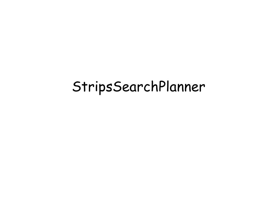 StripsSearchPlanner