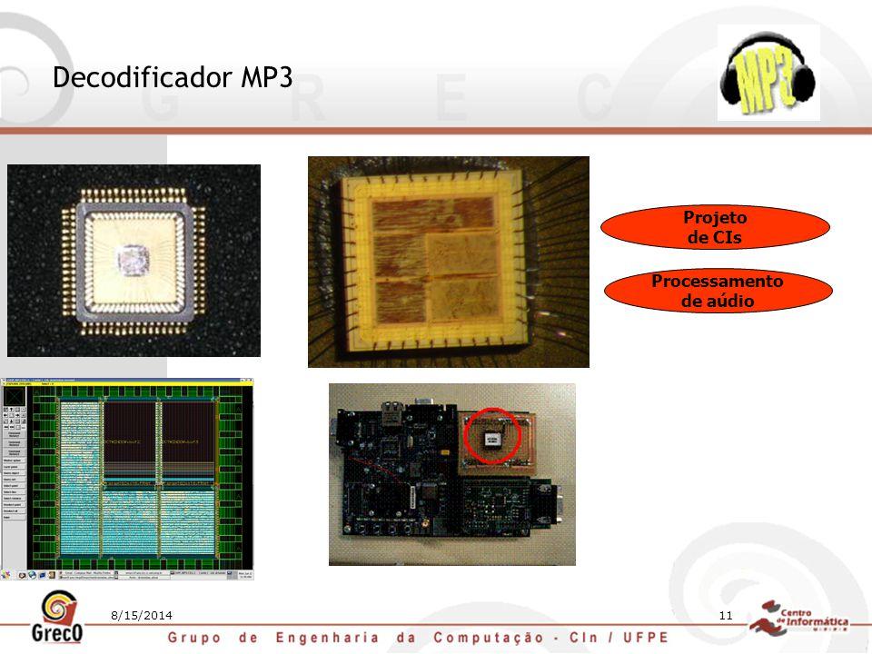 8/15/201411 Decodificador MP3 Projeto de CIs Processamento de aúdio