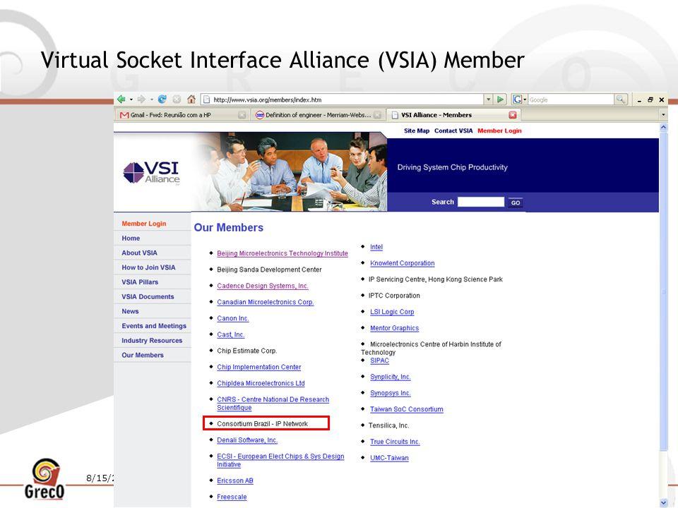 8/15/201420 Virtual Socket Interface Alliance (VSIA) Member