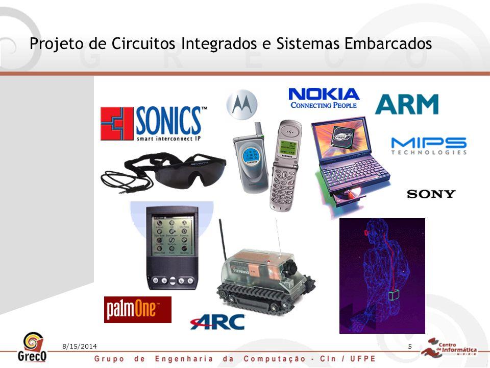 8/15/20146 Microcontrolador 8051 Projeto de CIs Software Embarcado