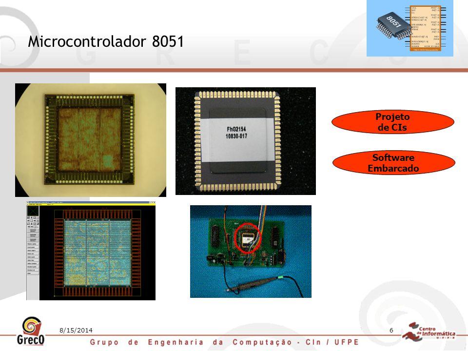 8/15/201417 Hardware Reconfigurável Modelo Elementos Finitos: 1ª Opção – Clustes de PCs - grande área - Alto consumo de potência - Alto custo de manutenção - Pequena área - Baixo consumo de potência - Paralelismo/Alta performance FPGAs Clusters