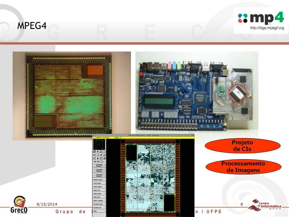 8/15/20148 MPEG4 Projeto de CIs Processamento de Imagens