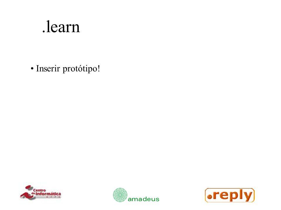 .learn Inserir protótipo!