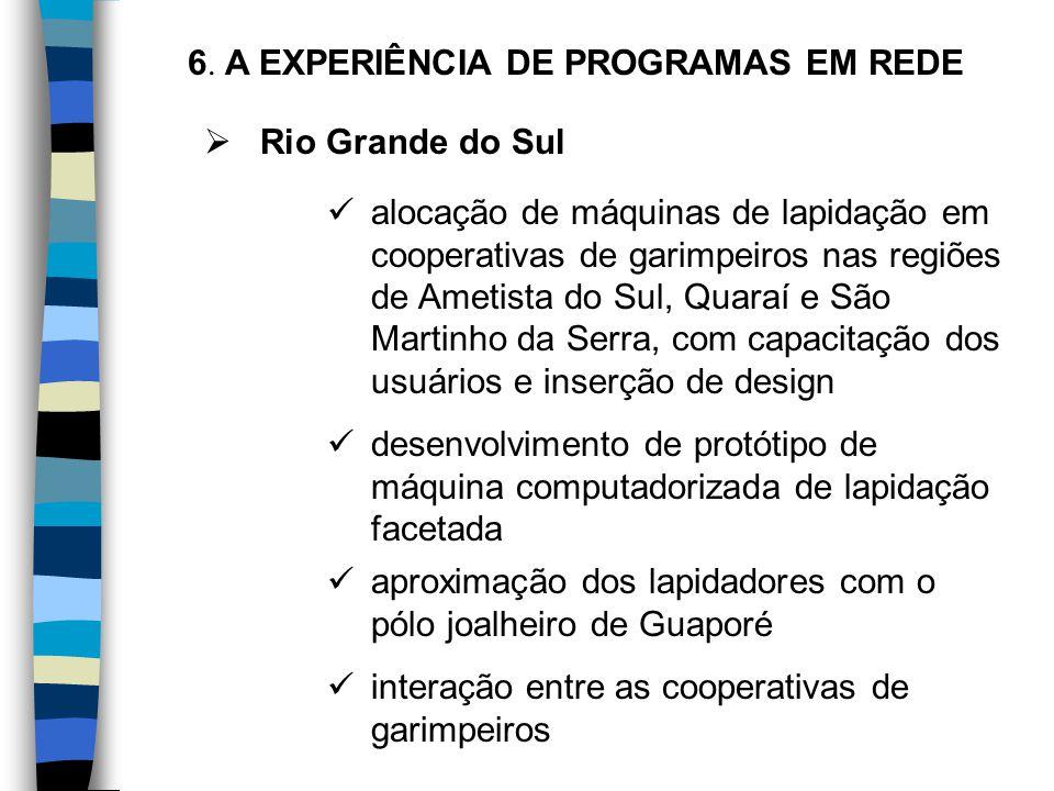 Rio Grande do Sul alocação de máquinas de lapidação em cooperativas de garimpeiros nas regiões de Ametista do Sul, Quaraí e São Martinho da Serra, c