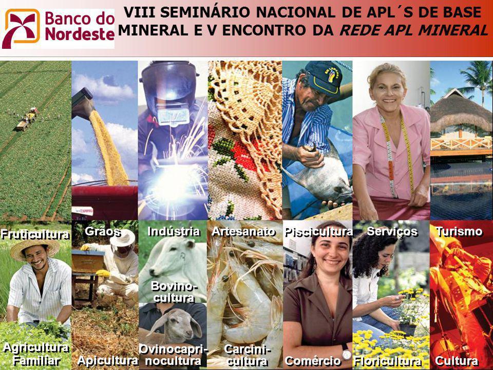 Agricultura Familiar Agricultura Familiar Fruticultura Apicultura Carcini- cultura Carcini- cultura Comércio Turismo Serviços Piscicultura Indústria G