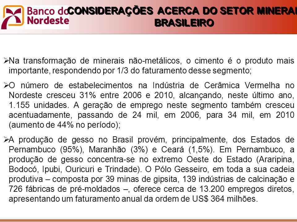 CONTRATAÇÕES DE LONGO PRAZO (SETOR MINERAL)