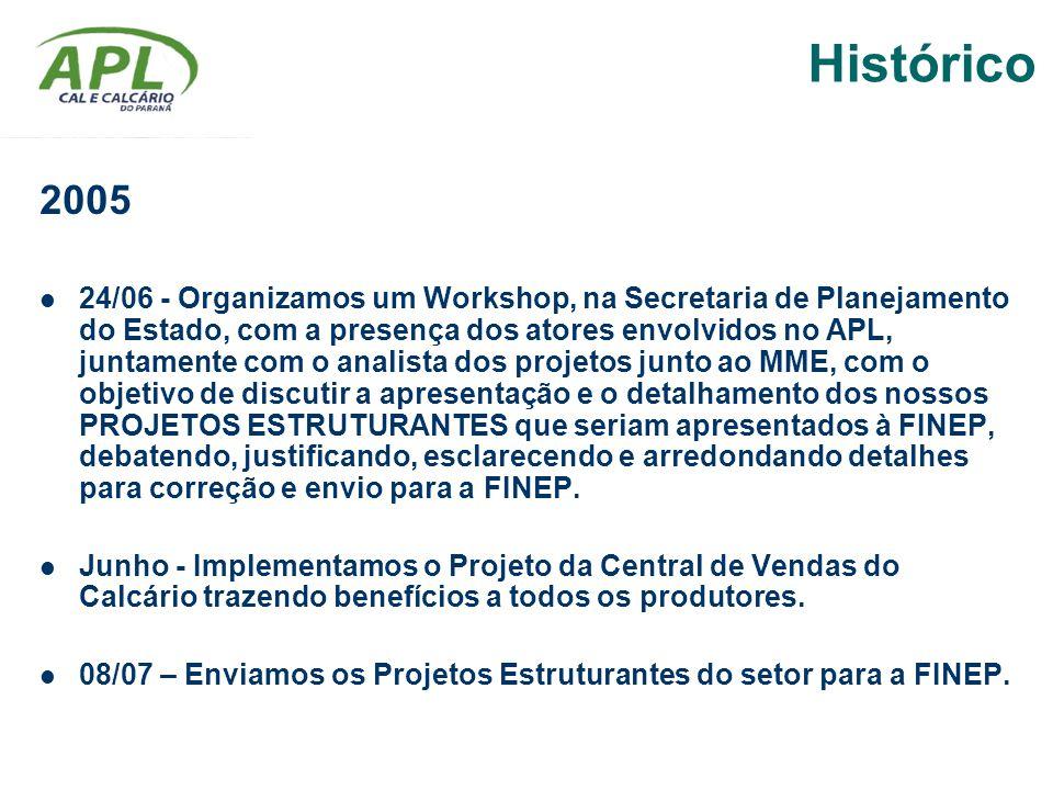 2005 24/06 - Organizamos um Workshop, na Secretaria de Planejamento do Estado, com a presença dos atores envolvidos no APL, juntamente com o analista