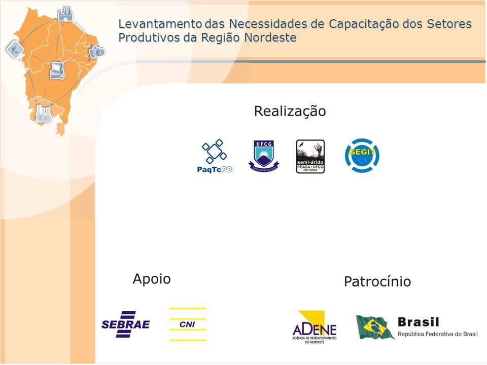 Levantamento das Necessidades de Capacitação dos Setores Produtivos da Região Nordeste