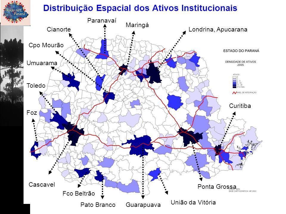Londrina, Apucarana Maringá Cascavel Ponta Grossa Curitiba Guarapuava Cpo Mourão Umuarama Toledo Foz União da Vitória Pato Branco Fco Beltrão Paranava