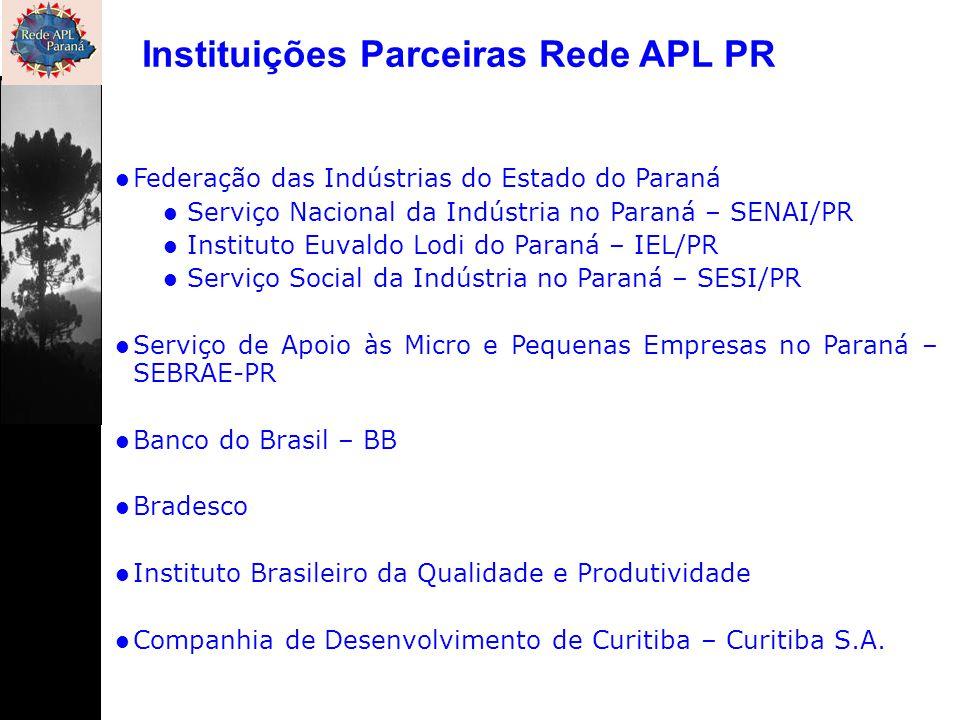 Federação das Indústrias do Estado do Paraná Serviço Nacional da Indústria no Paraná – SENAI/PR Instituto Euvaldo Lodi do Paraná – IEL/PR Serviço Soci