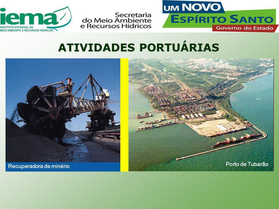 ATIVIDADES PORTUÁRIAS Porto de Tubarão Recuperadora de minério