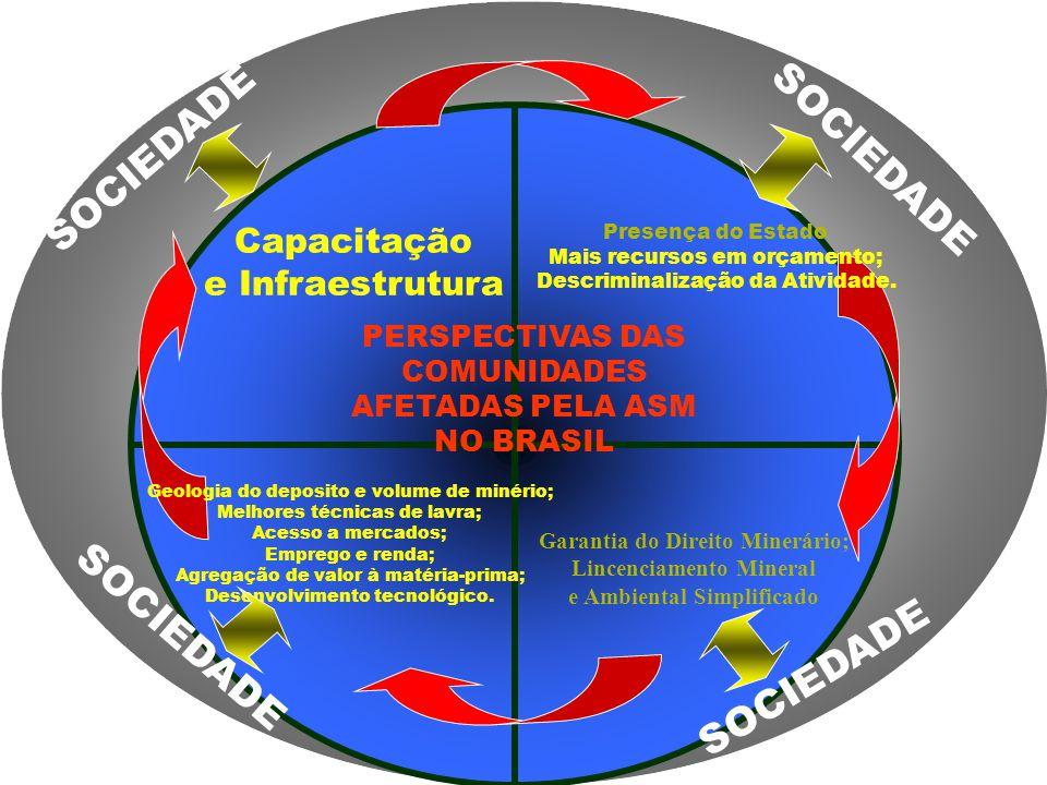 Presença do Estado Mais recursos em orçamento; Descriminalização da Atividade. Geologia do deposito e volume de minério; Melhores técnicas de lavra; A