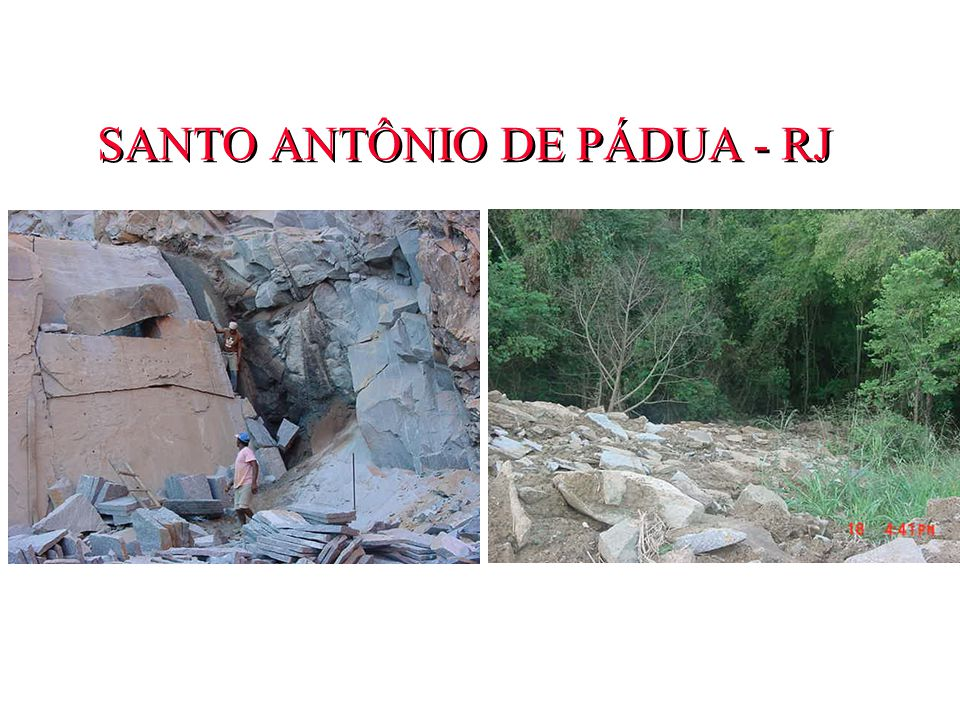 SANTO ANTÔNIO DE PÁDUA - RJ Segurança do trabalho precária e impactos ambientais