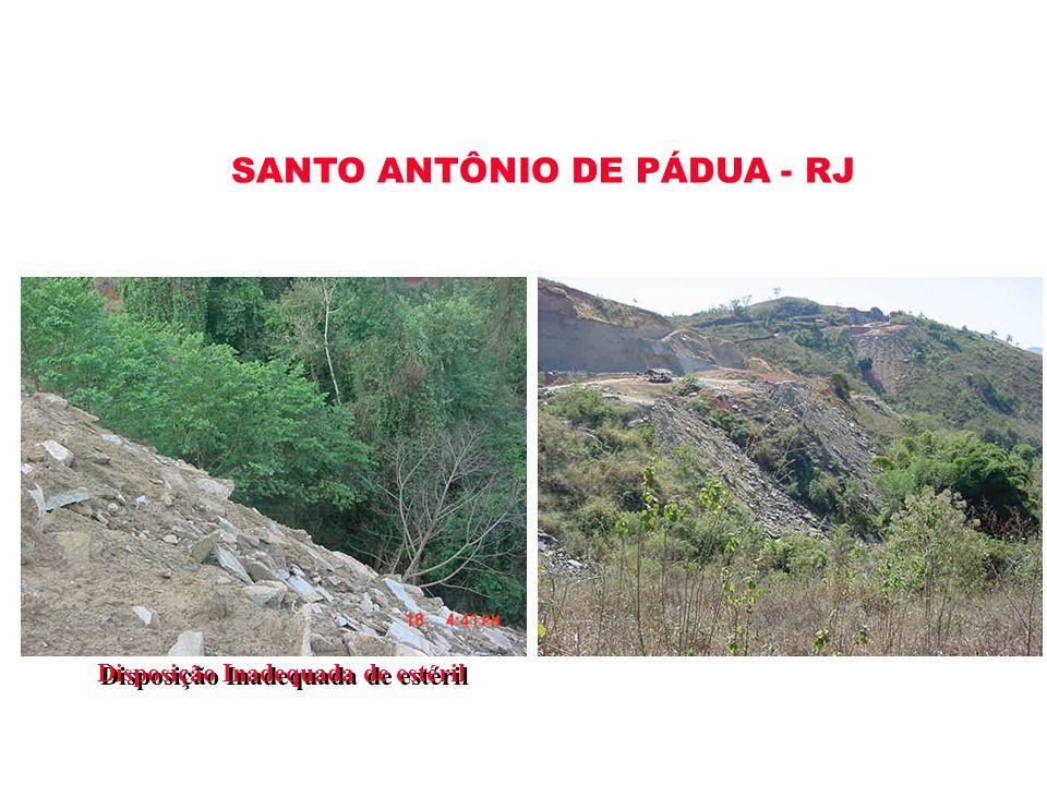 Disposição Inadequada de estéril SANTO ANTÔNIO DE PÁDUA - RJ