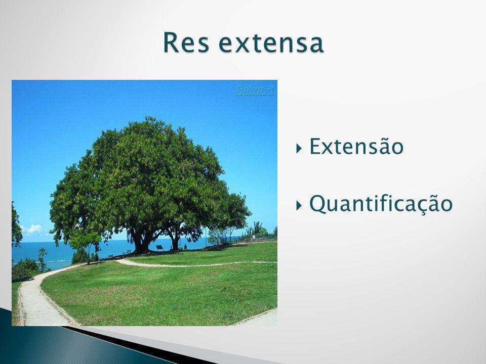  Extensão  Quantificação