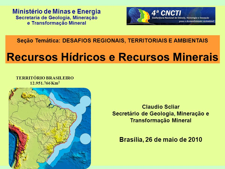 22 Muito obrigado pela atenção claudio.scliar@mme.gov.br