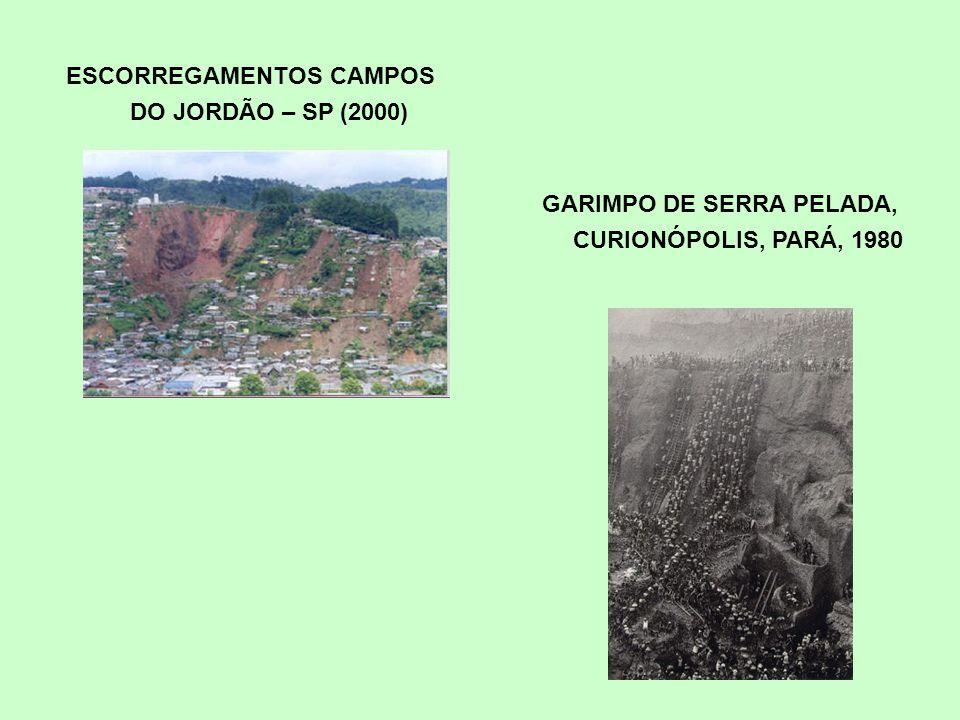Conflitos de usos e base para o ordenamento territorial Rochas calcarias dolina