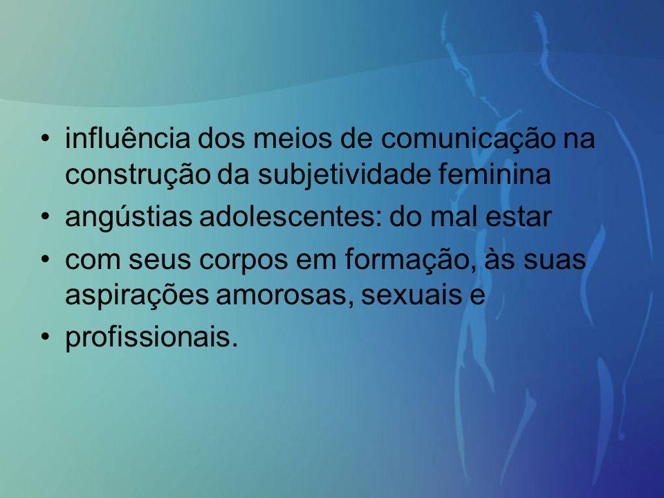 influência dos meios de comunicação na construção da subjetividade feminina angústias adolescentes: do mal estar com seus corpos em formação, às suas