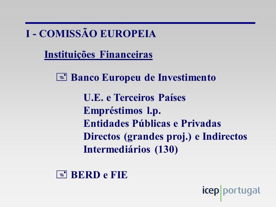 I - COMISSÃO EUROPEIA  Banco Europeu de Investimento U.E.