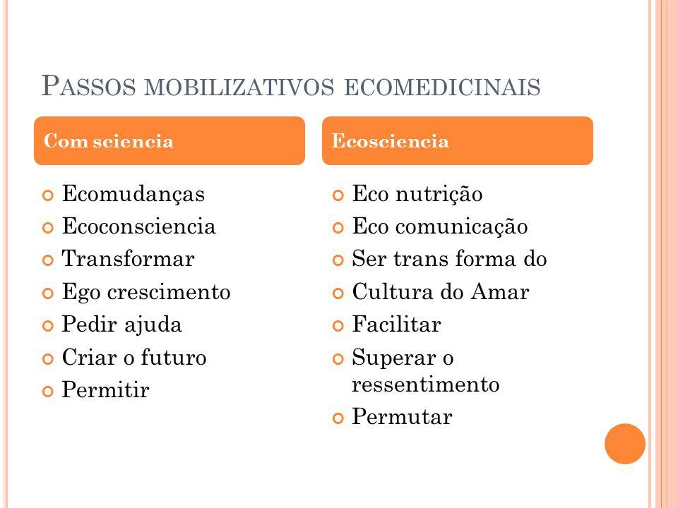 P ASSOS MOBILIZATIVOS ECOMEDICINAIS Ecomudanças Ecoconsciencia Transformar Ego crescimento Pedir ajuda Criar o futuro Permitir Eco nutrição Eco comuni