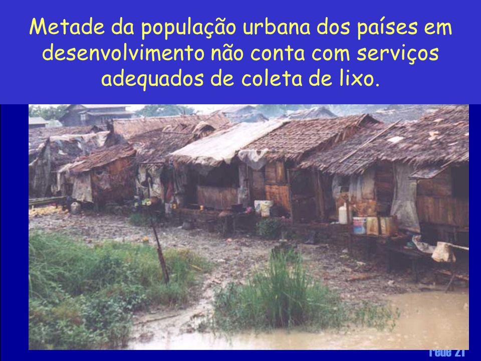 rede 21 Metade da população urbana dos países em desenvolvimento não conta com serviços adequados de coleta de lixo.