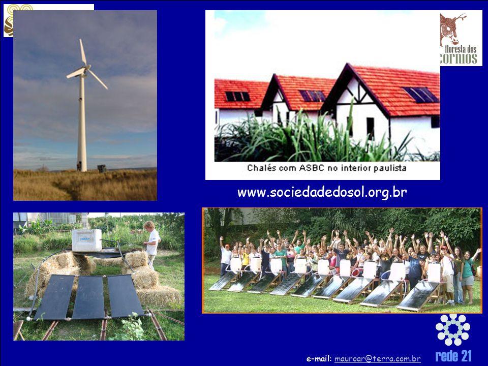 rede 21 e-mail: mauroar@terra.com.brmauroar@terra.com.br www.sociedadedosol.org.br