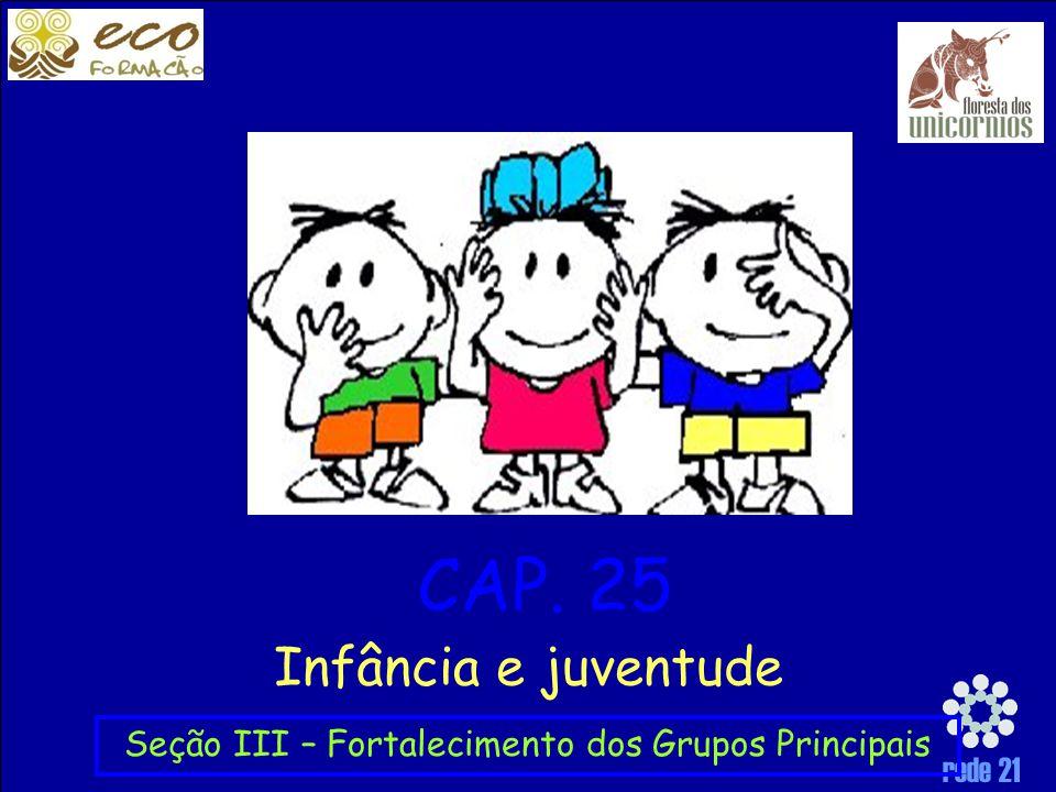rede 21 Seção III – Fortalecimento dos Grupos Principais CAP. 25 Infância e juventude
