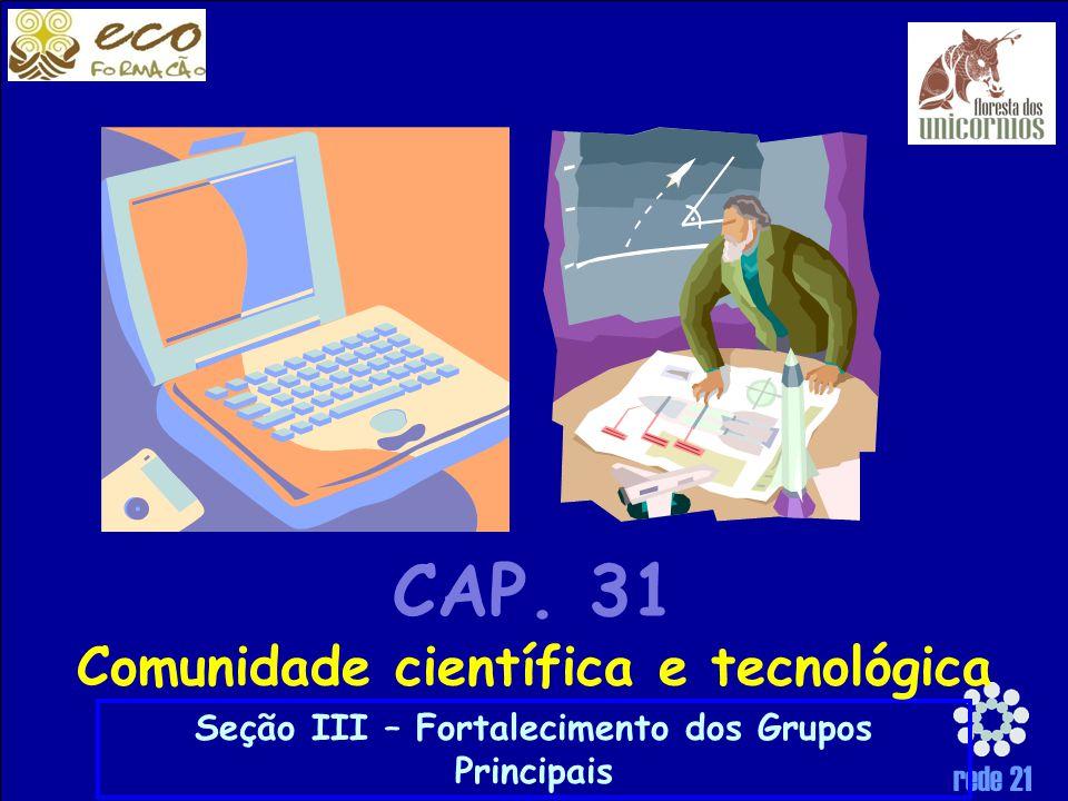 rede 21 Seção III – Fortalecimento dos Grupos Principais CAP.