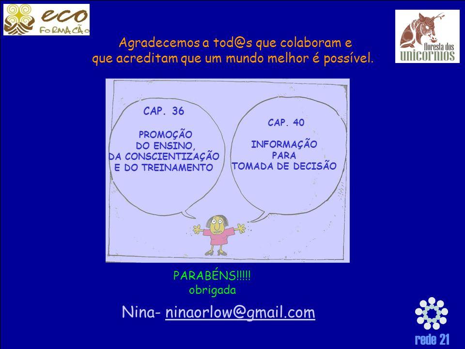 rede 21 CAP.40 INFORMAÇÃO PARA TOMADA DE DECISÃO CAP.