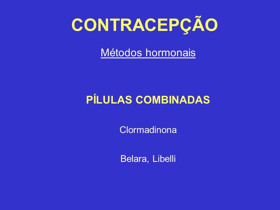 CONTRACEPÇÃO Métodos hormonais PÍLULAS COMBINADAS Clormadinona Belara, Libelli