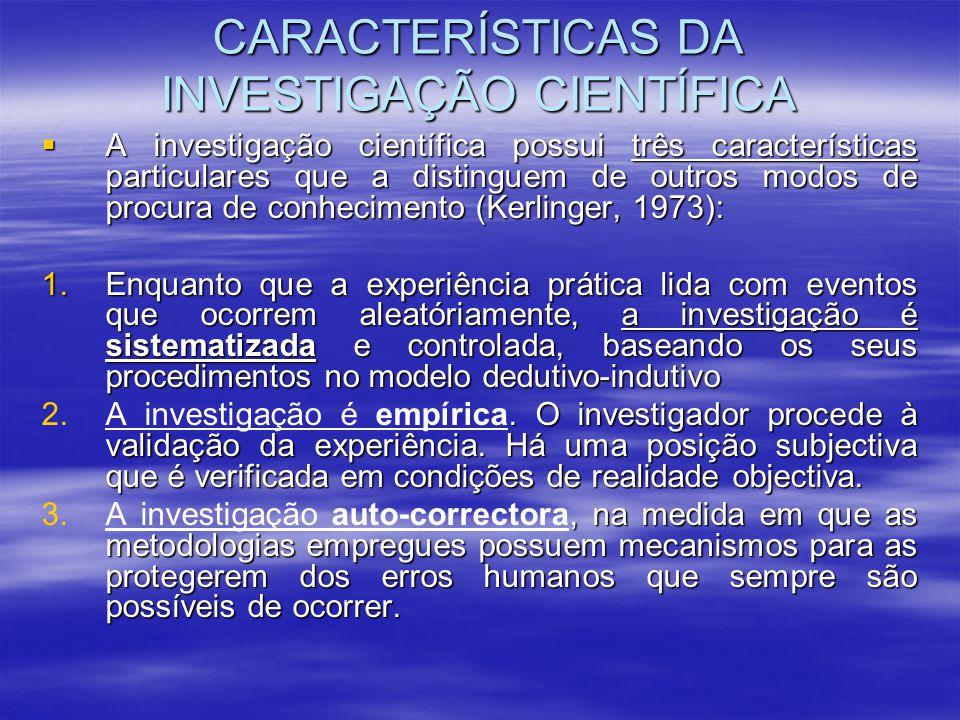 A investigação é um processo de pesquisa em que se procura cuidadosamente colocar uma questão e proceder sistematicamente para recolher, analisar, interpretar e comunicar a informação necessária para responder à questão (Graziano e Raulin, 1989) (Graziano e Raulin, 1989)