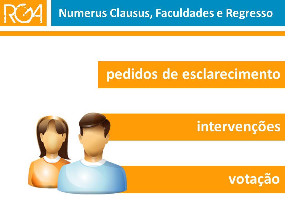 Numerus Clausus, Faculdades e Regresso pedidos de esclarecimento intervenções votação