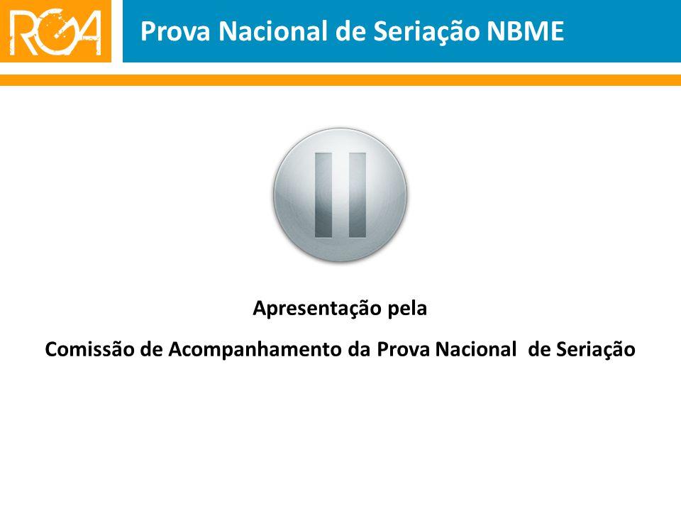 Prova Nacional de Seriação NBME Apresentação pela Comissão de Acompanhamento da Prova Nacional de Seriação