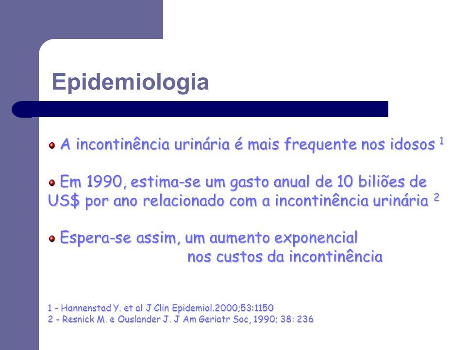 A incontinência urinária é mais frequente nos idosos 1 A incontinência urinária é mais frequente nos idosos 1 Em 1990, estima-se um gasto anual de 10