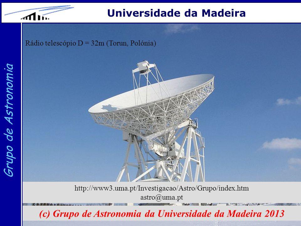 27 Grupo de Astronomia Universidade da Madeira (c) Grupo de Astronomia da Universidade da Madeira 2013 http://www3.uma.pt/Investigacao/Astro/Grupo/ind