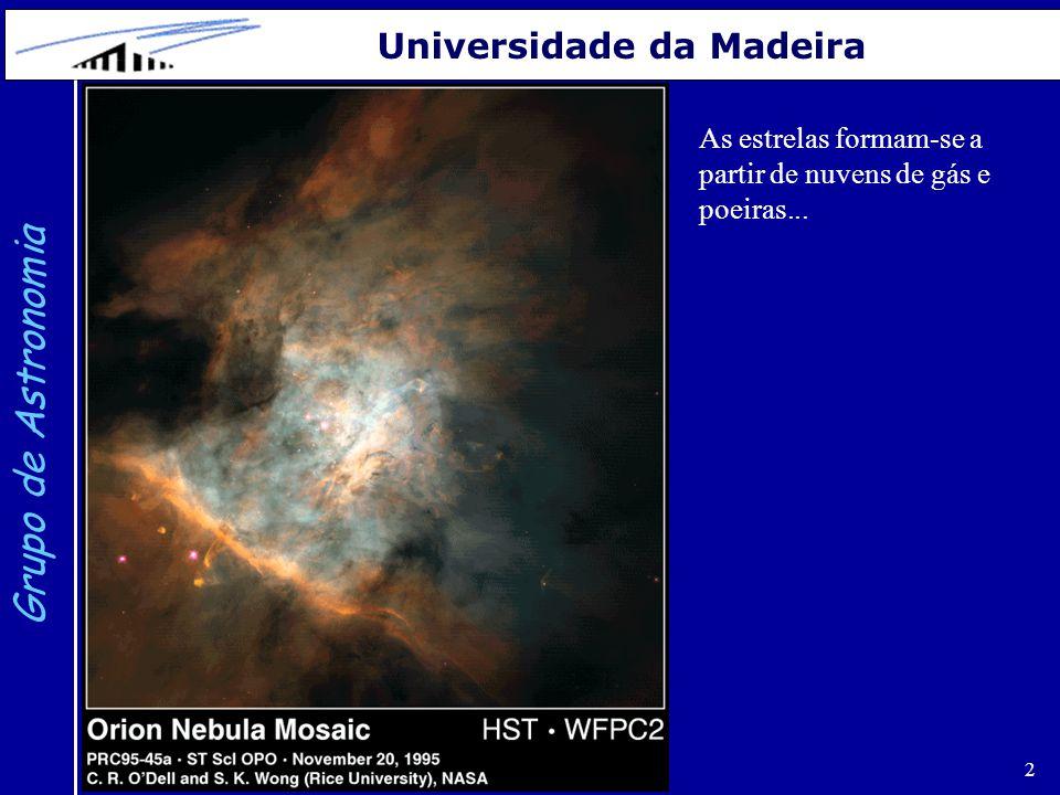 3 Grupo de Astronomia Universidade da Madeira http://www.physics.unc.edu/ evans/pub/A31/Lecture17-Stellar-Birth/...