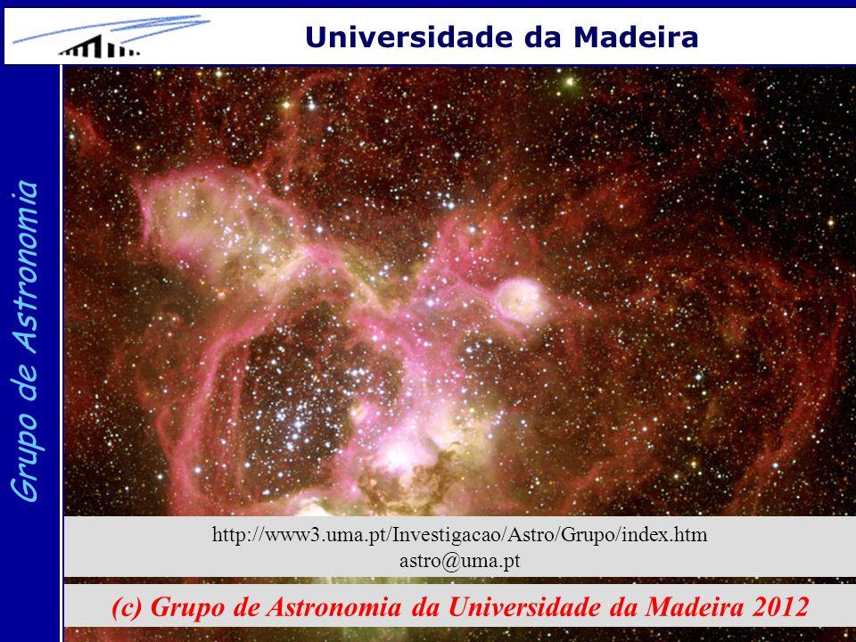22 Grupo de Astronomia Universidade da Madeira (c) Grupo de Astronomia da Universidade da Madeira 2012 http://www3.uma.pt/Investigacao/Astro/Grupo/ind