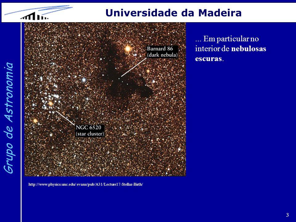 14 Grupo de Astronomia Universidade da Madeira http://user.physics.unc.edu/ evans/pub/A31/Lecture18-Stellar-Evolution/ Evolução de uma estrela (de uma massa solar) ao longo do Ramo Assimptótico da Gigantes (AGB).