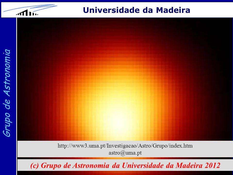 21 Grupo de Astronomia Universidade da Madeira (c) Grupo de Astronomia da Universidade da Madeira 2012 http://www3.uma.pt/Investigacao/Astro/Grupo/ind