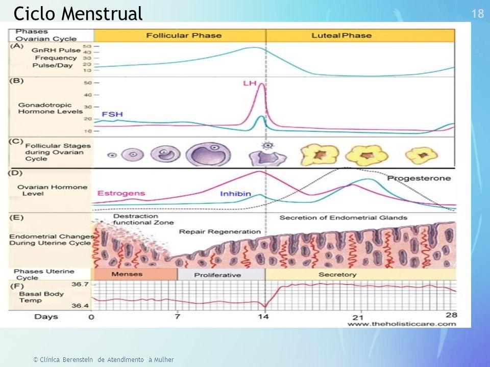 17 © Clínica Berenstein de Atendimento à Mulher Área pré- óptica Área posterior Alterações na termorregulação.