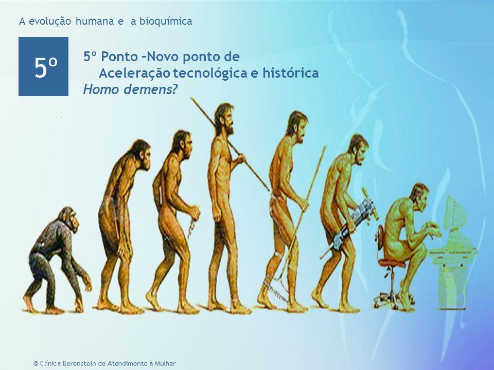 6 © Clínica Berenstein de Atendimento à Mulher Ponto 300 anos Homo Sapiens sapiens Civilização Urbano/Industrial 4º A evolução humana e a bioquímica