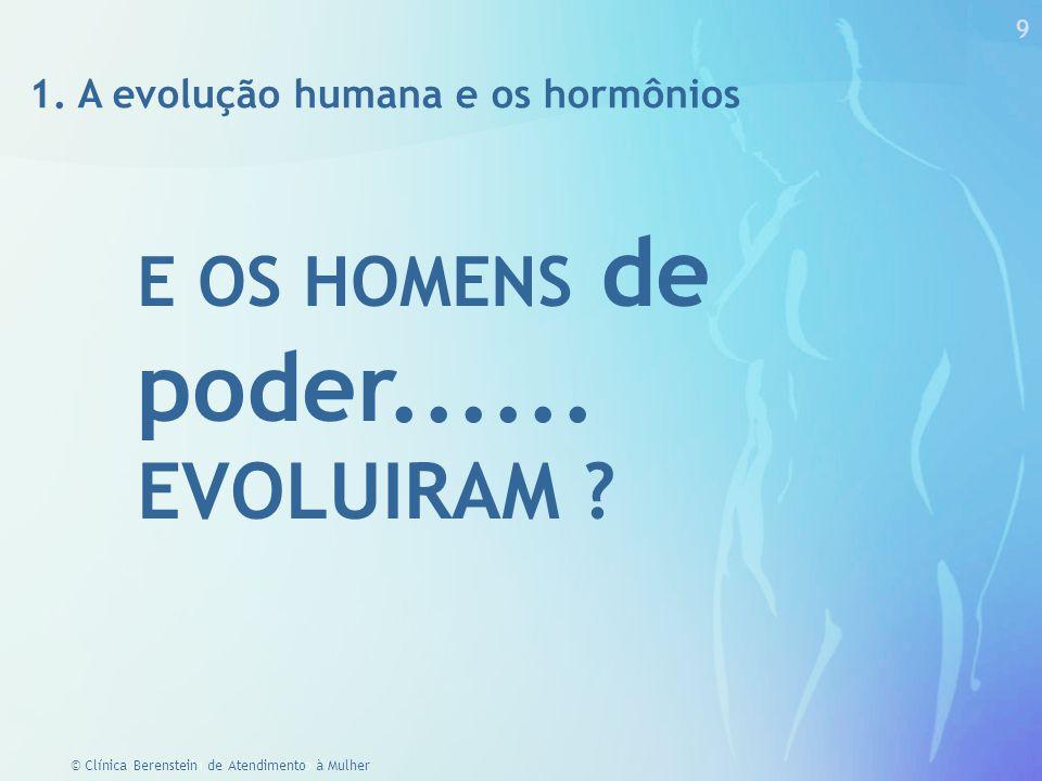 29 © Clínica Berenstein de Atendimento à Mulher Inteligência Hormonal Feminina QI A razão e nossas ações podem ser influenciadas por hormônios.