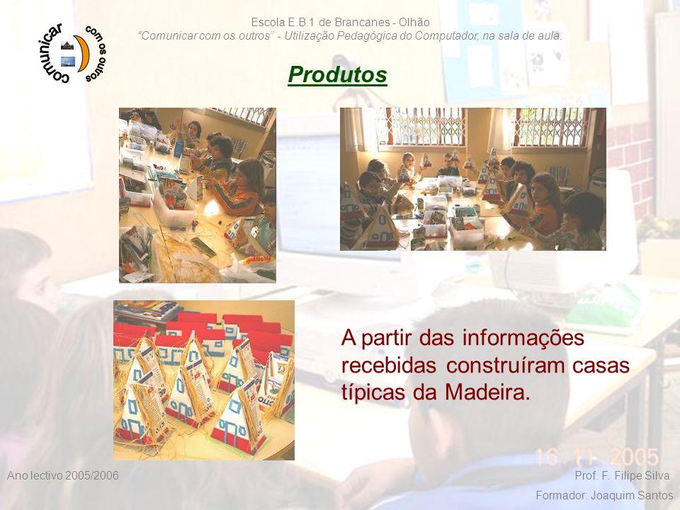 """F. Filipe Silva 2005/200619 Escola E.B.1 de Brancanes - Olhão """"Comunicar com os outros"""" - Utilização Pedagógica do Computador, na sala de aula. Ano le"""
