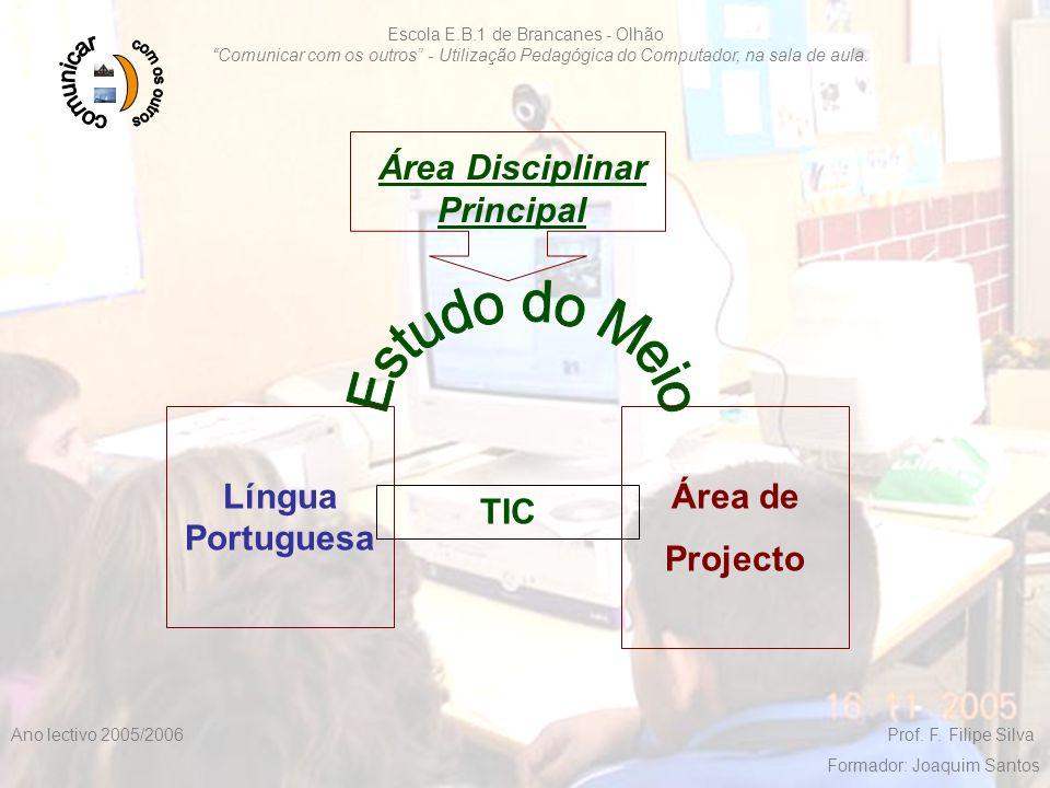 """F. Filipe Silva 2005/20062 Escola E.B.1 de Brancanes - Olhão """"Comunicar com os outros"""" - Utilização Pedagógica do Computador, na sala de aula. Ano lec"""