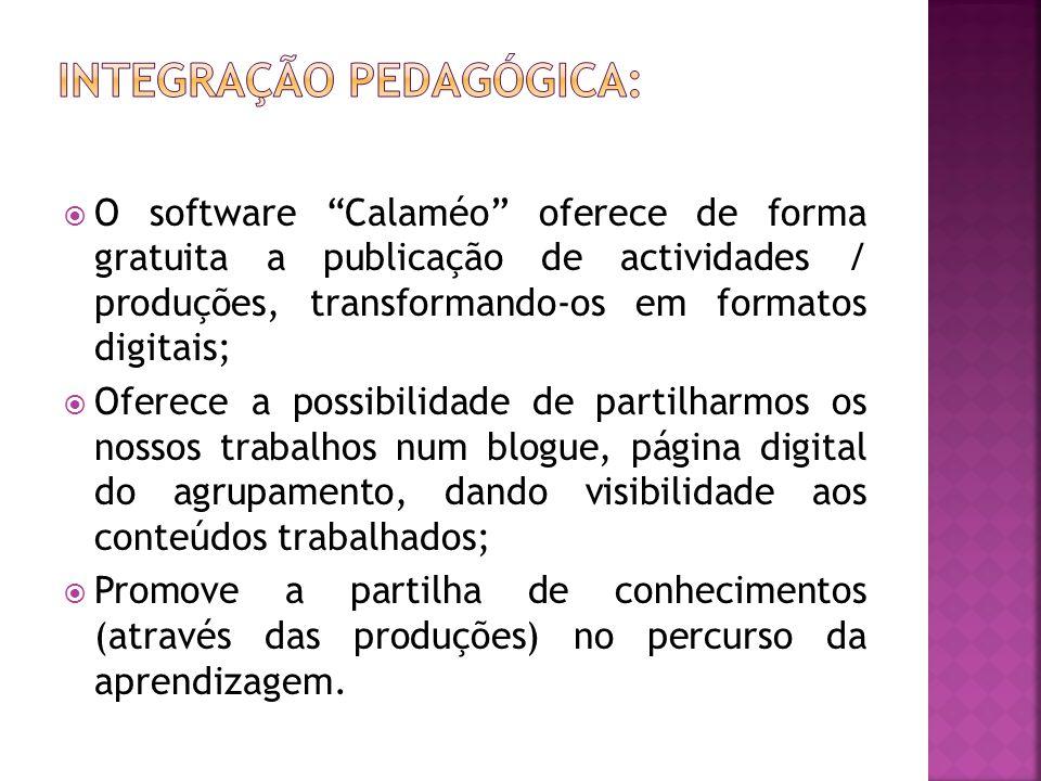 """ O software """"Calaméo"""" oferece de forma gratuita a publicação de actividades / produções, transformando-os em formatos digitais;  Oferece a possibili"""