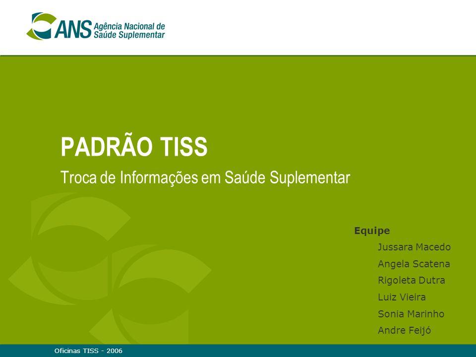 Oficinas TISS - 200621 Padronização Uma demanda do mercado: padronização das guias e demonstrativos de retorno com definição de campos obrigatórios Elevados custos administrativos Informações sem qualidade
