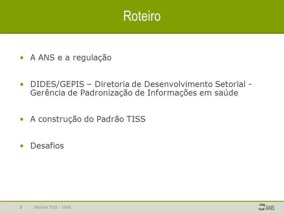 Oficinas TISS - 200642 Resolução Normativa nº 114/2005 Art.